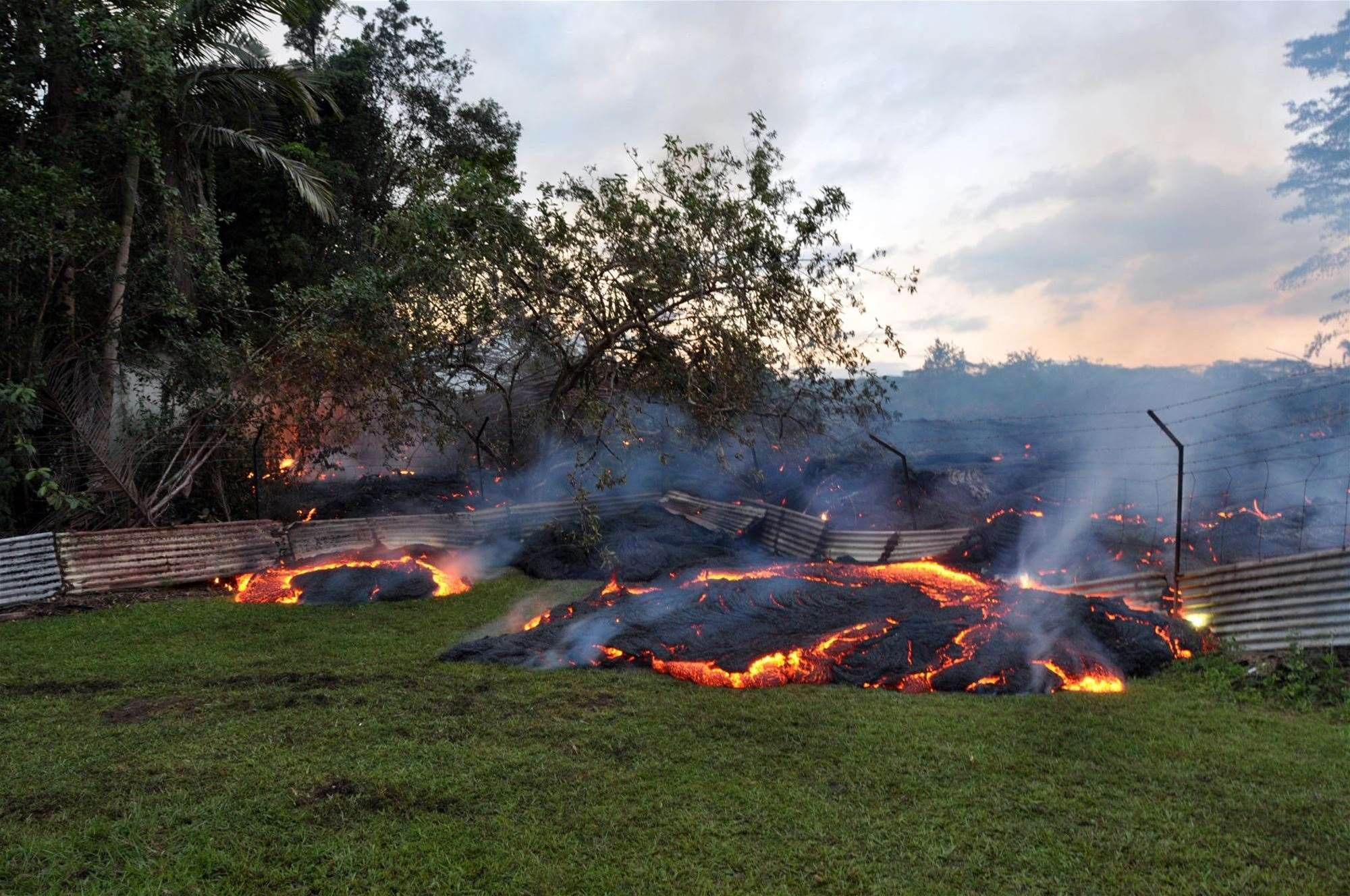 Lava Flow Swiftly Approaching Hawaiian Town