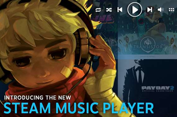 Steam now has a music player