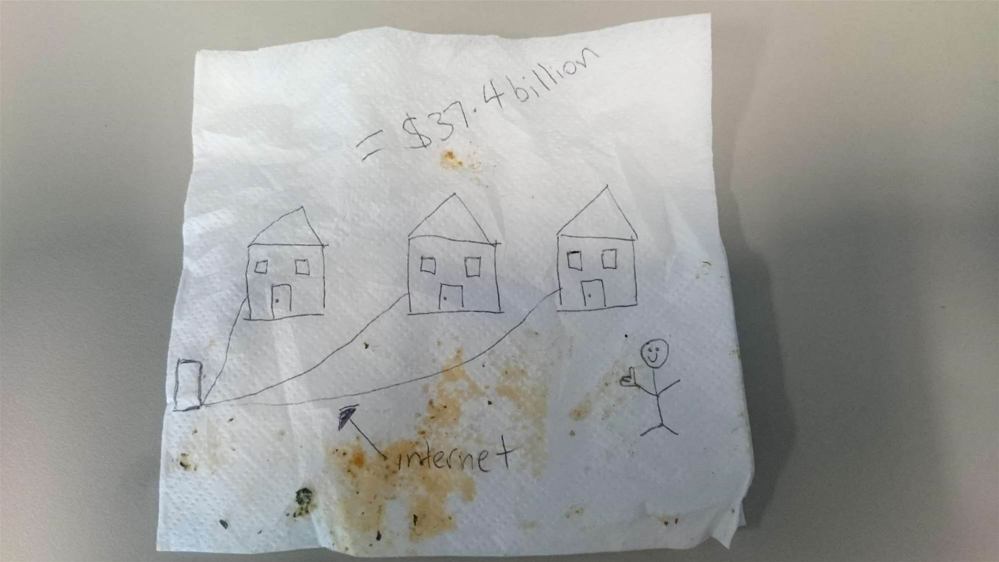 NBN napkin lists on eBay for $5000