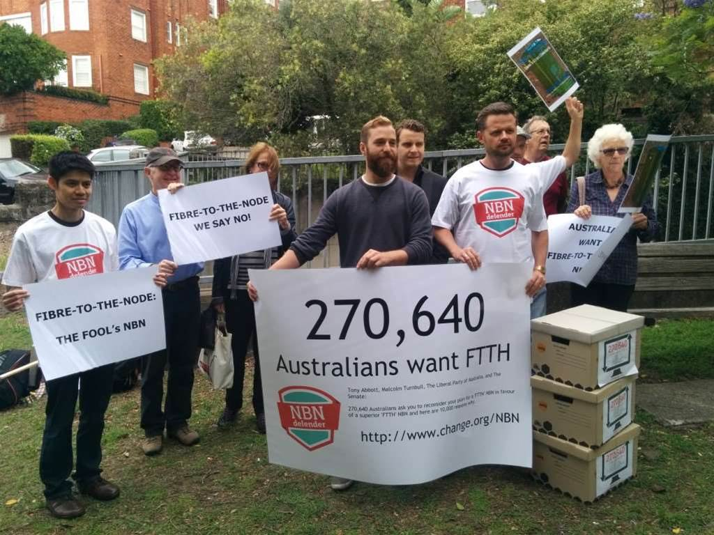 FTTP NBN supporters lobby Turnbull