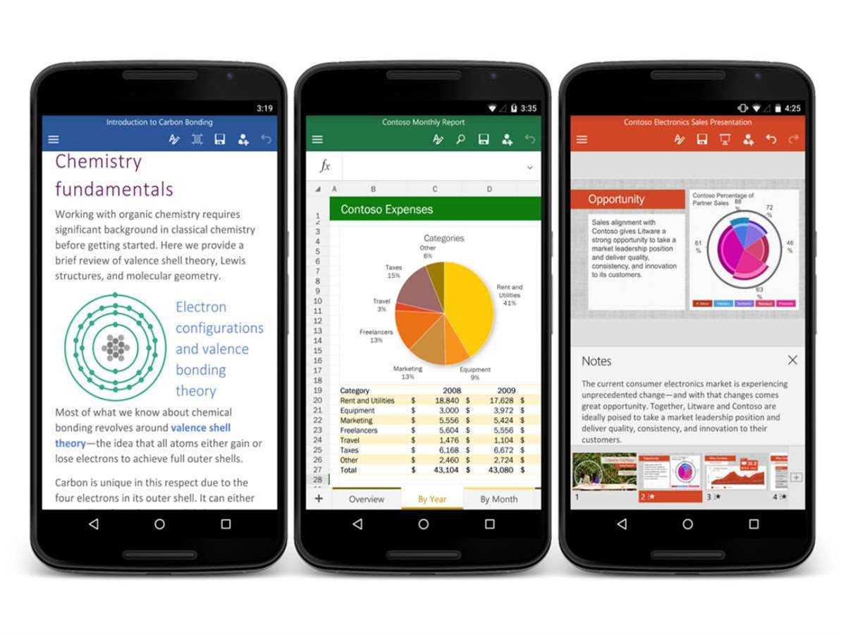 Microsoft Office lands on Android smartphones