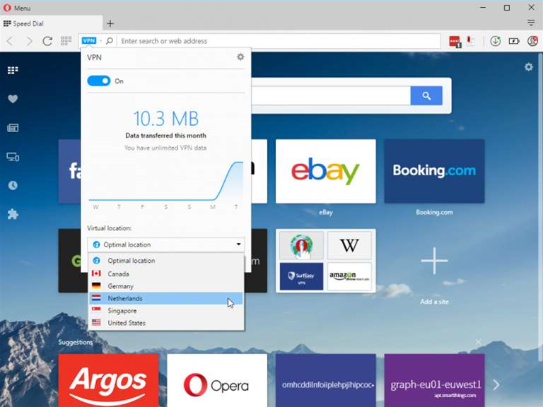 Opera web browser now includes a free VPN