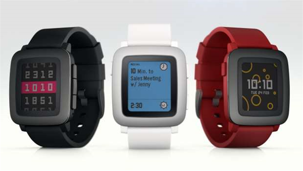 Pebble Time - a colour screen smartwatch with 7-day battery life