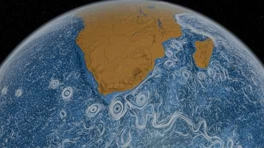 Video: A Swirling Visualisation of the Ocean's Currents