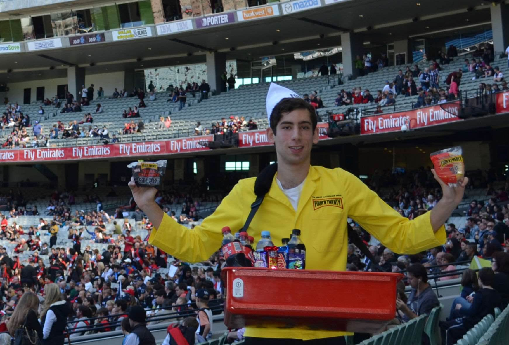 Free pies at the MCG to tempt fans over to iBeacon