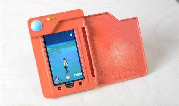 The only way to play Pokemon Go is with this 3D-printed Pokedex battery case