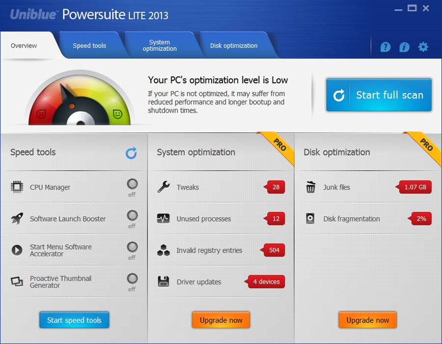 Revamped Uniblue Powersuite 2013 gets new UI and a free edition
