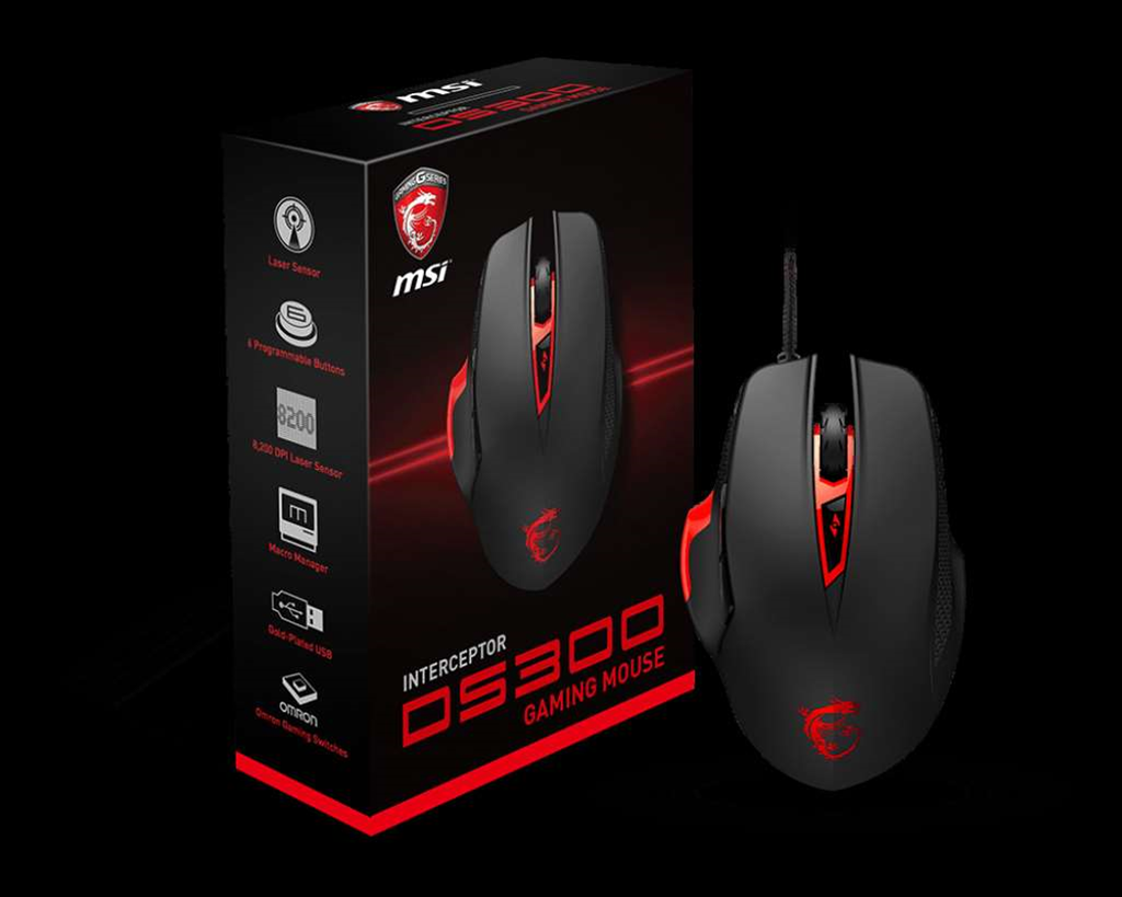 MSI releases new Interceptor DS300 gaming mouse into the wild