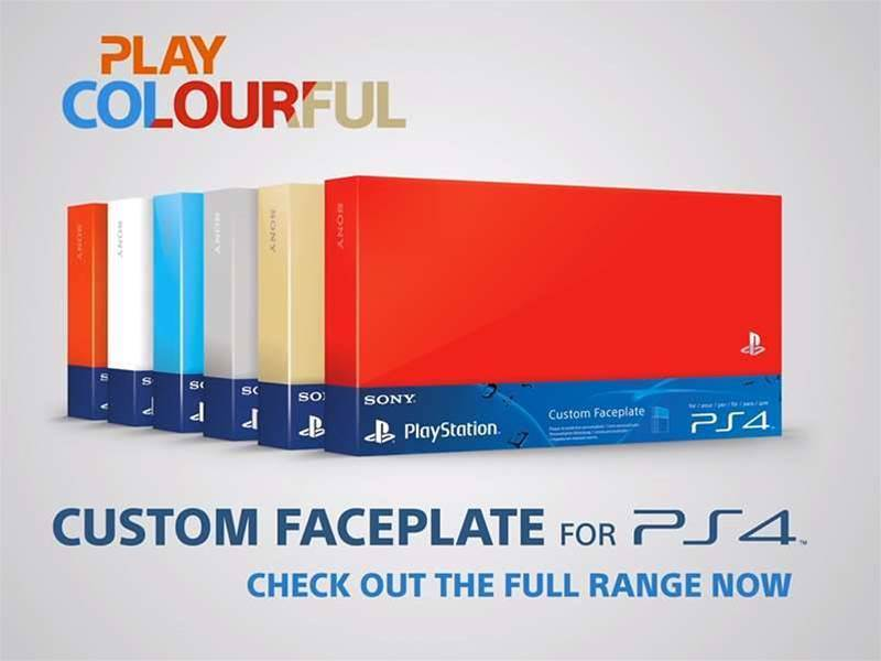 Sony offers colour faceplates for the PS4