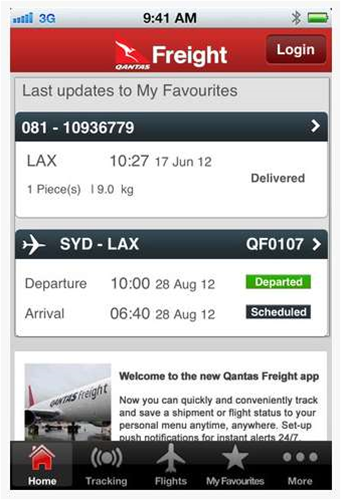 Qantas Freight deploys mobile app