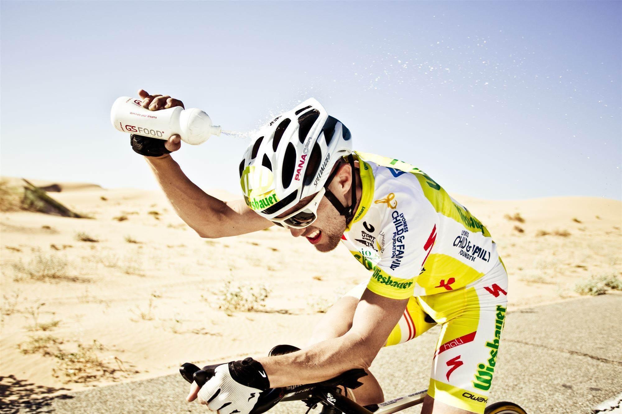 Marathon man rides halfway across Australia in just three days