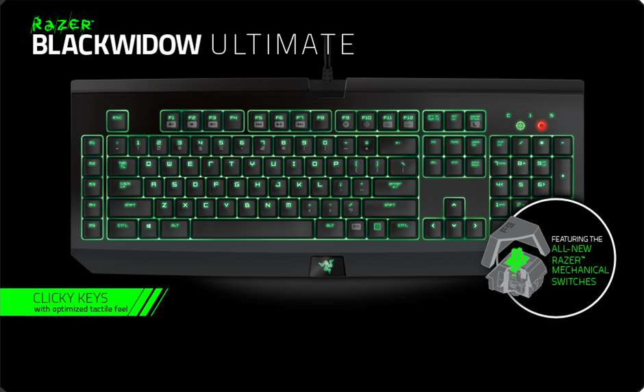Razer launches new Black Widow keyboard, with Razer-developed switches