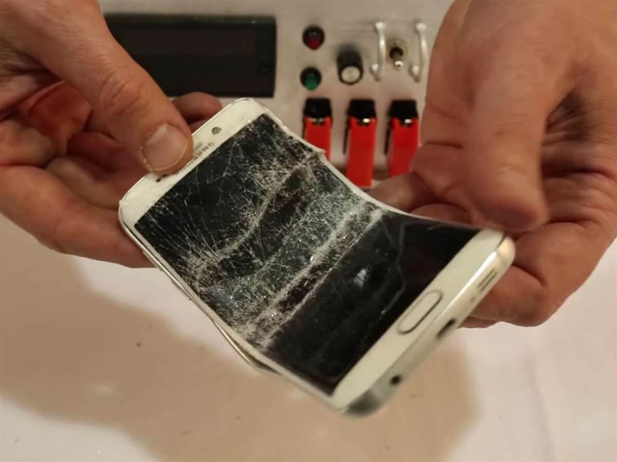The Galaxy S6 Edge does bend under extreme pressure, but Samsung isn't happy