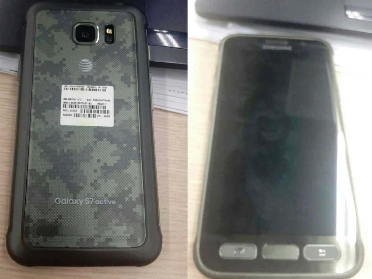 Leaked photos show a rugged, battle-ready Samsung Galaxy S7 Active