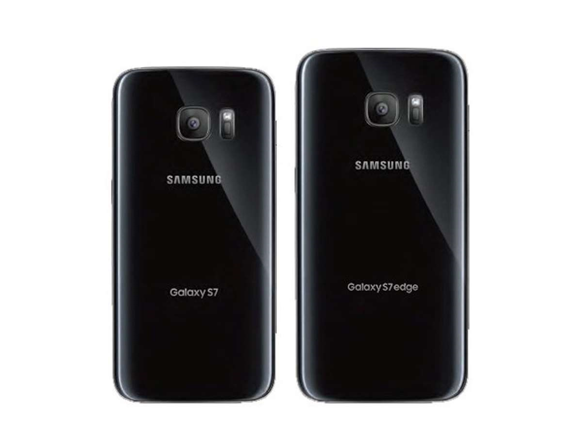 New front and back images of the Samsung Galaxy S7