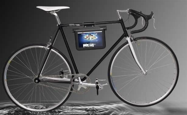 Samsung shows off bizarre Galaxy Tab 10.1 bike accessory