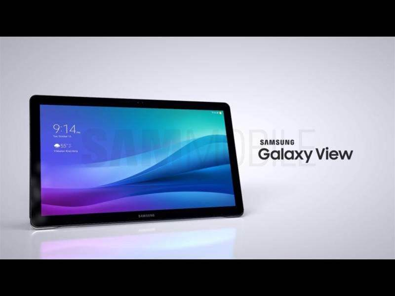 Samsung's 18.4in Galaxy View tablet leaks
