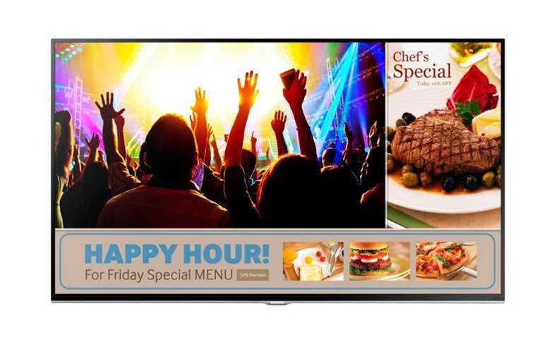 How much does a 40in TV cost to display marketing inside your shop?