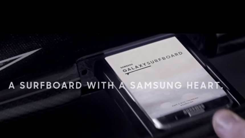 The Samsung Galaxy Surfboard is just plain silly
