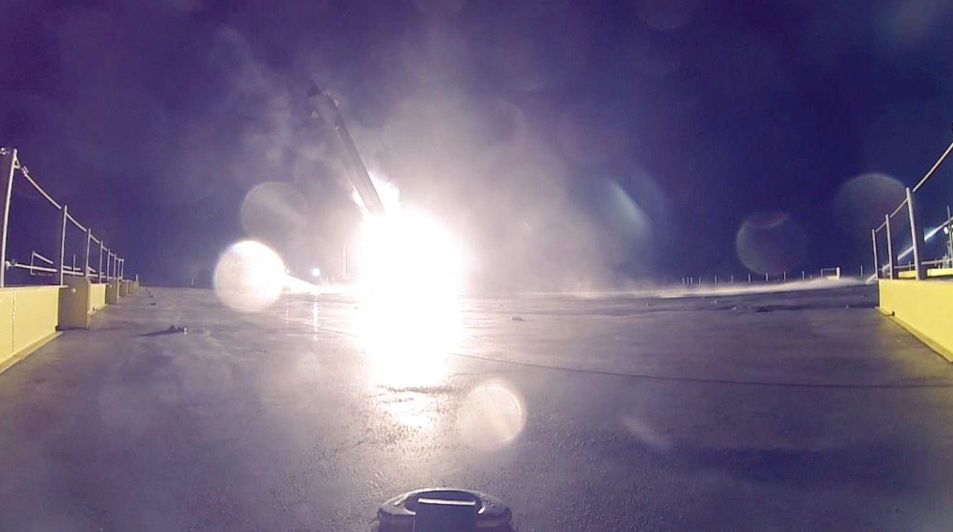 First Photos Of SpaceX's Failed Rocket Landing