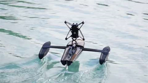 Watch a drone that turns into a boat!