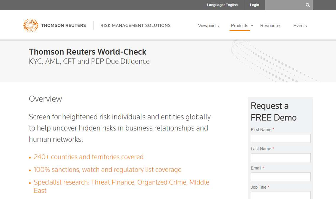 World-Check due diligence list leaked online, Thomson-Reuters admits