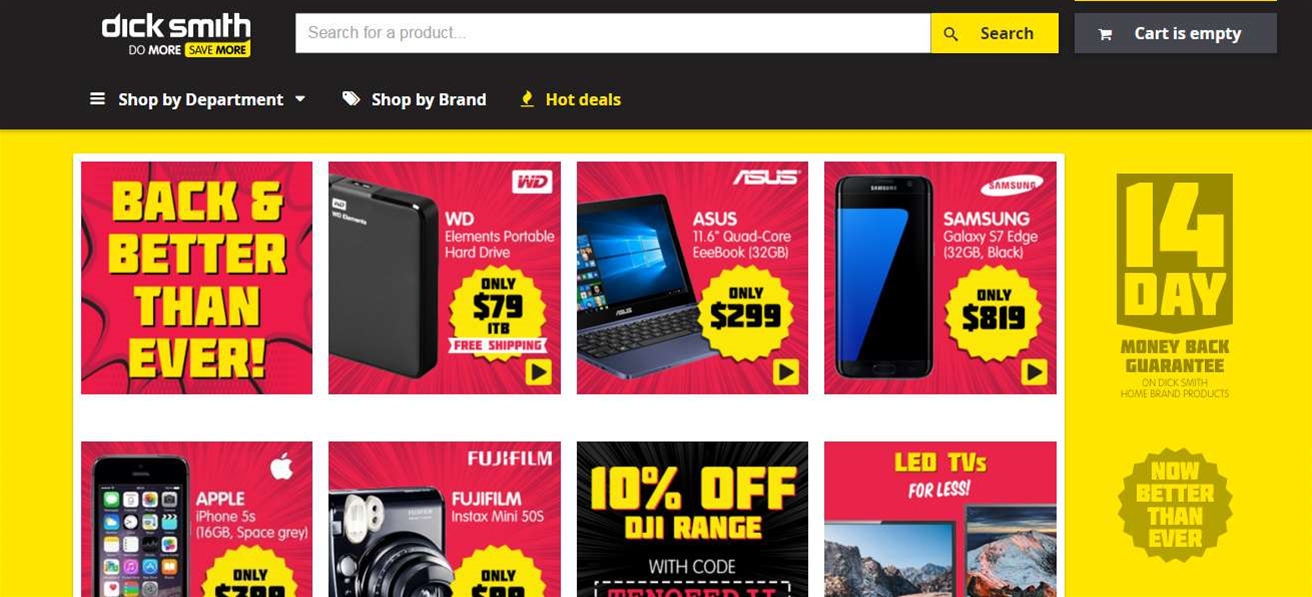 Online only Dick Smith site now open for business following Kogan acquisition