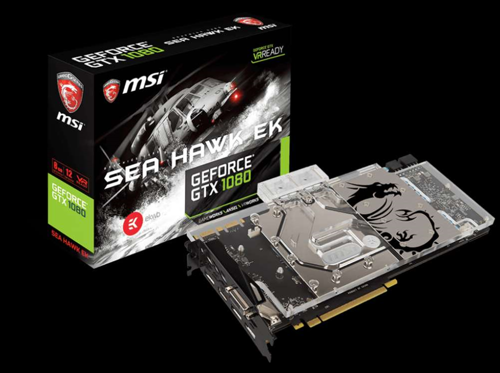 MSI announces GTX 1080  and 1070 Sea Hawk EK video card