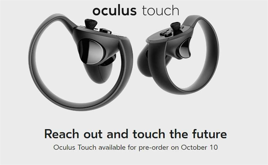 Oculus Touch controllers available to pre-order next week