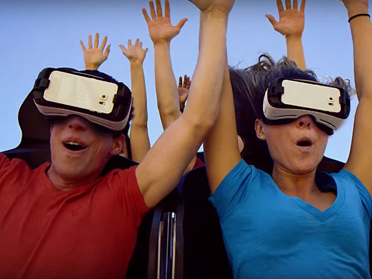 Experience VR on a real rollercoaster