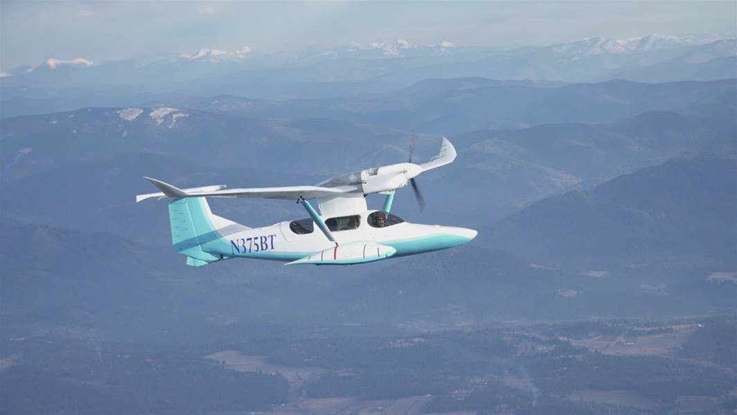 Legendary Plane Designer Burt Rutan Tests Weird Seaplane