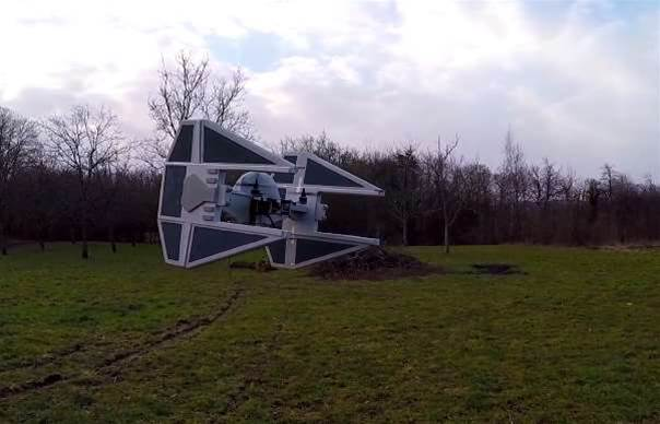 Watch A Homemade TIE Fighter Drone Fly