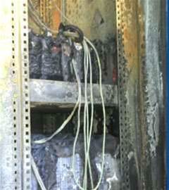 Telstra exchange damaged by house fire