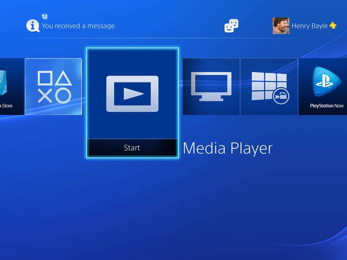 The PS4 finally gets a media player app
