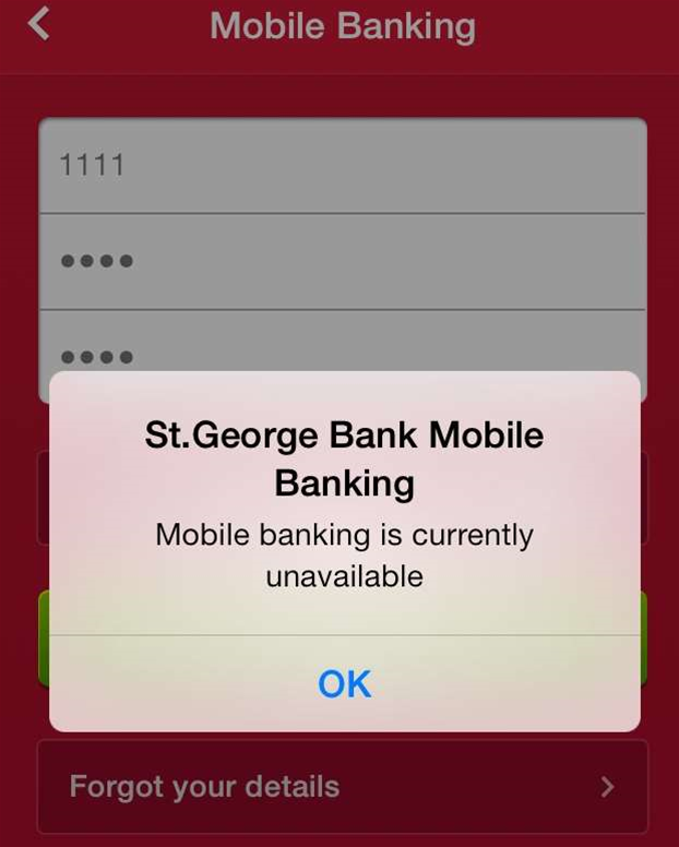 St George suffers online, mobile banking outage