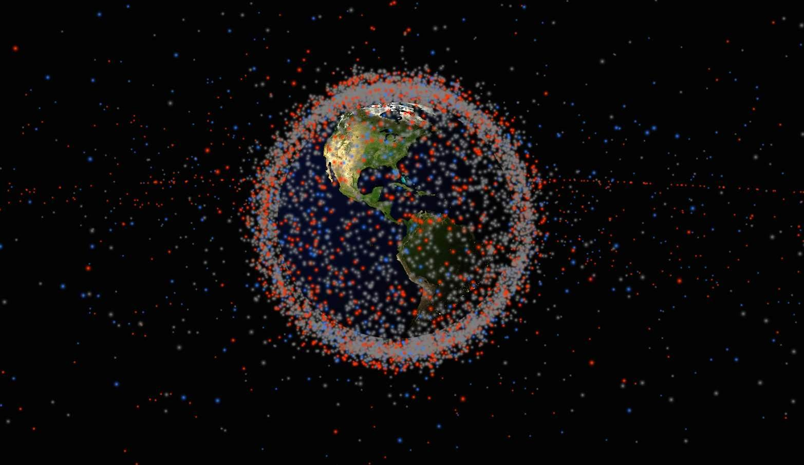 See All The Satellites And Space Junk Circling Earth In Real-Time