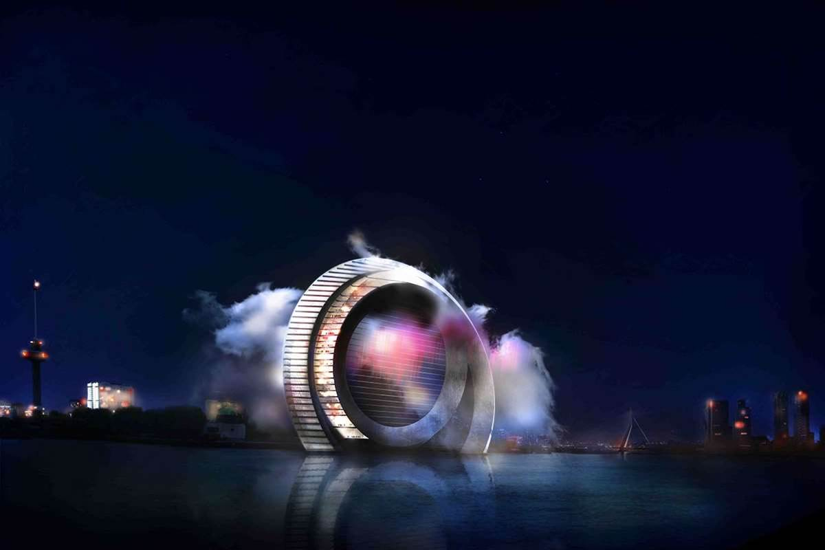 In The Netherlands, A Giant Wind Turbine For People To Live On