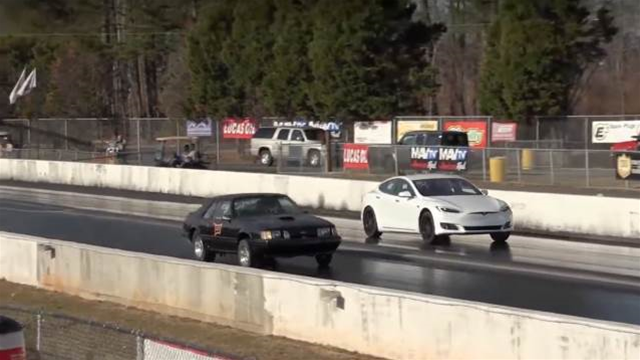Watch a Tesla P100D smash Faraday Future's 0-60mph record