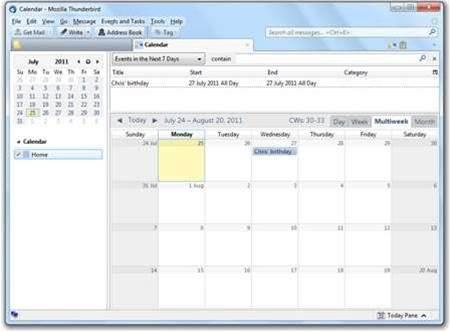 Add a calendar to Thunderbird 5 with Lightning 1.0b5