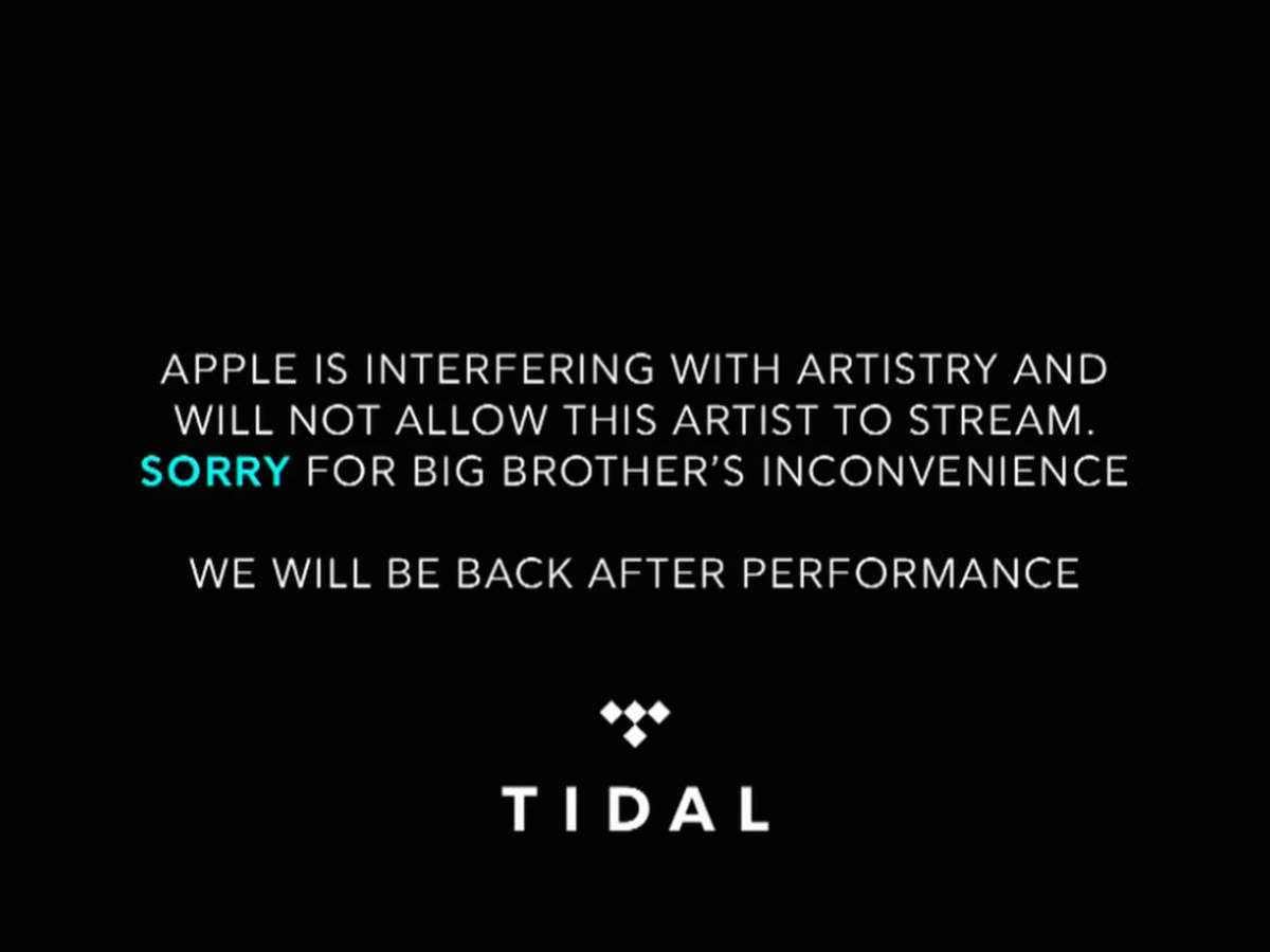 Apple may not have blocked Tidal concert stream