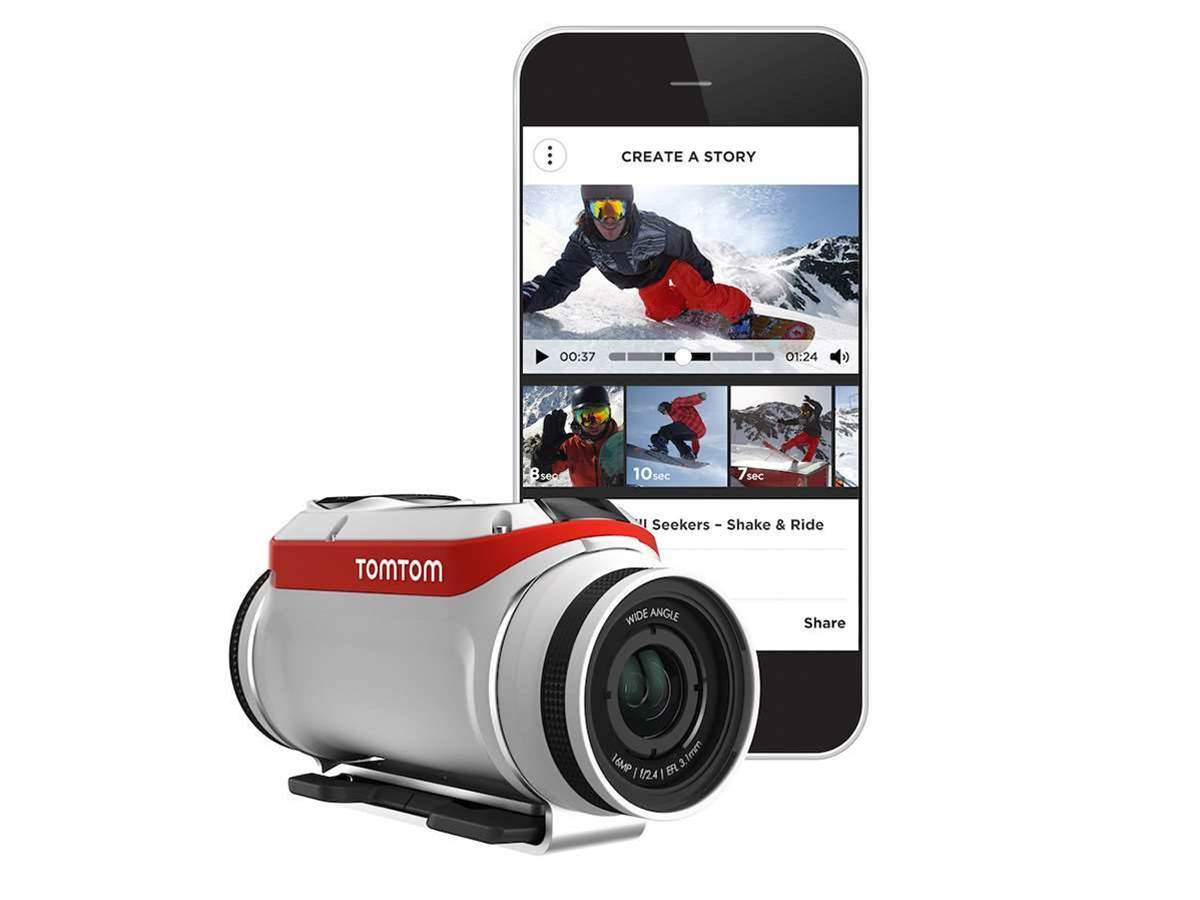 The TomTom Bandit action-cam edits the videos for you