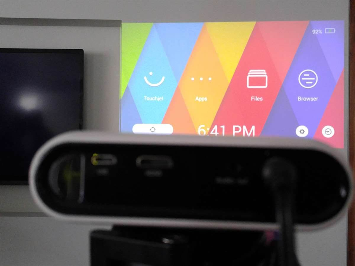 Pocket-sized Android projector turns any flat surface into an 80in touchscreen