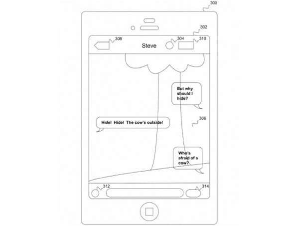 Apple's transparent texting app could bring an end to walking into stuff