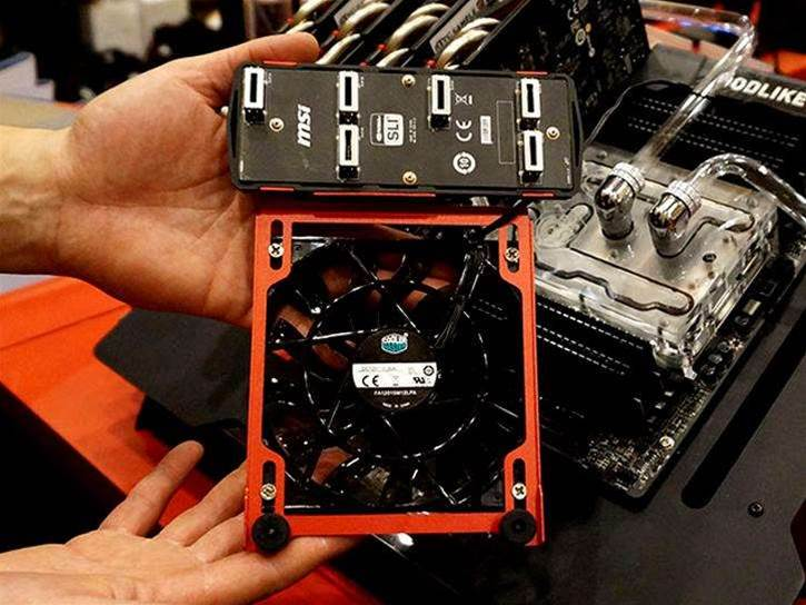 MSI's new SLI bridges are super blinged up