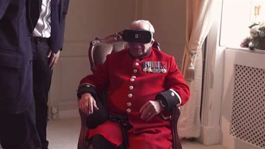Virtual reality transports WW2 veteran to French town he helped liberate