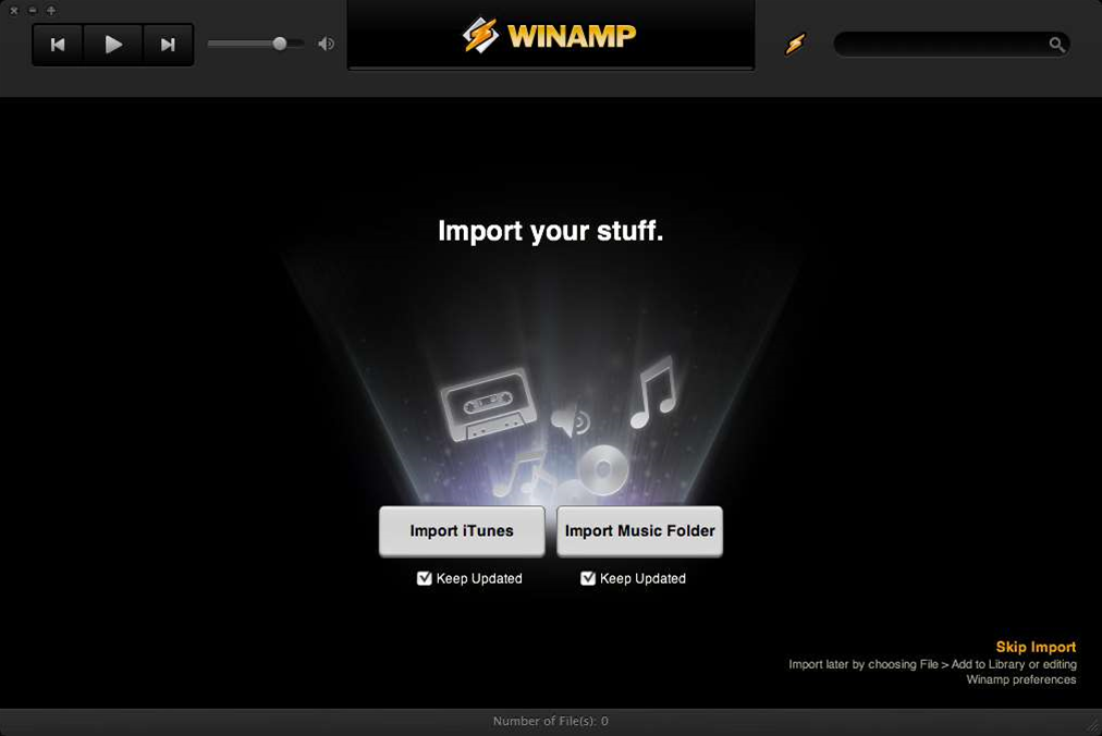 Essential downloads: WinAmp for Mac Sync Beta