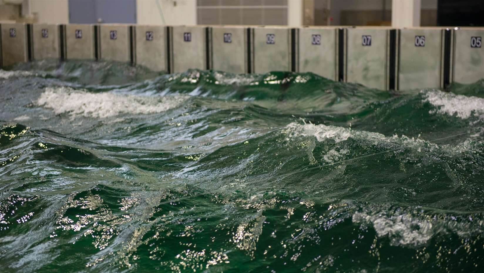 High-Tech Wavepool Simulates The Worst Ocean Waves