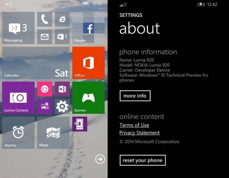 Hands-on: Windows 10 Technical Preview for phones