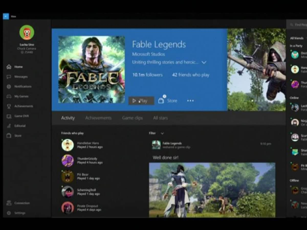 Xbox One game streaming comes to Windows 10