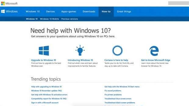 ... Windows 10: Microsoft's online support could fix most of your problems: www.pcauthority.com.au/News/414962,how-to-get-help-in-windows-10...